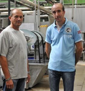 Michel ANDRE et Sylvain MONTAGNON, Responsables de Production