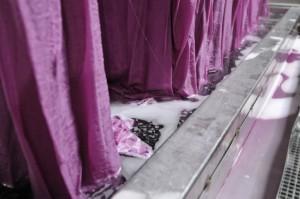 Teinture au cadre de la soie