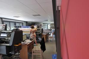 Atelier d'Impression Numérique Jet d'Encre sur tissus de soieries