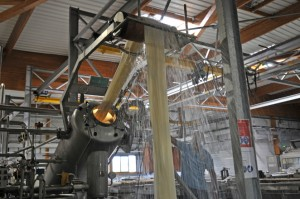 Teinture industrielle en overflow