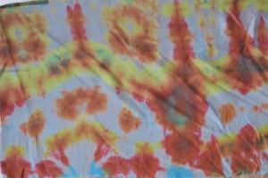 Ombré Wave sur tissu coton soie