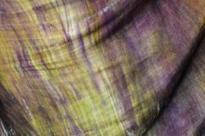 Teinture Ombré Fizzy sur tissu soie et laine