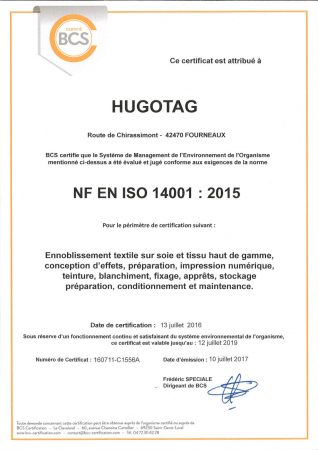 Renouvellement ISO 14001